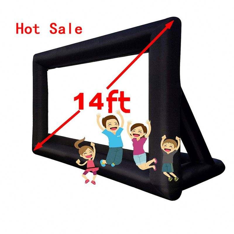 16:9 14Feet Good price Blow Up Outdoor portable promotion advertising Inflatable Projection Cinema Movie Screen