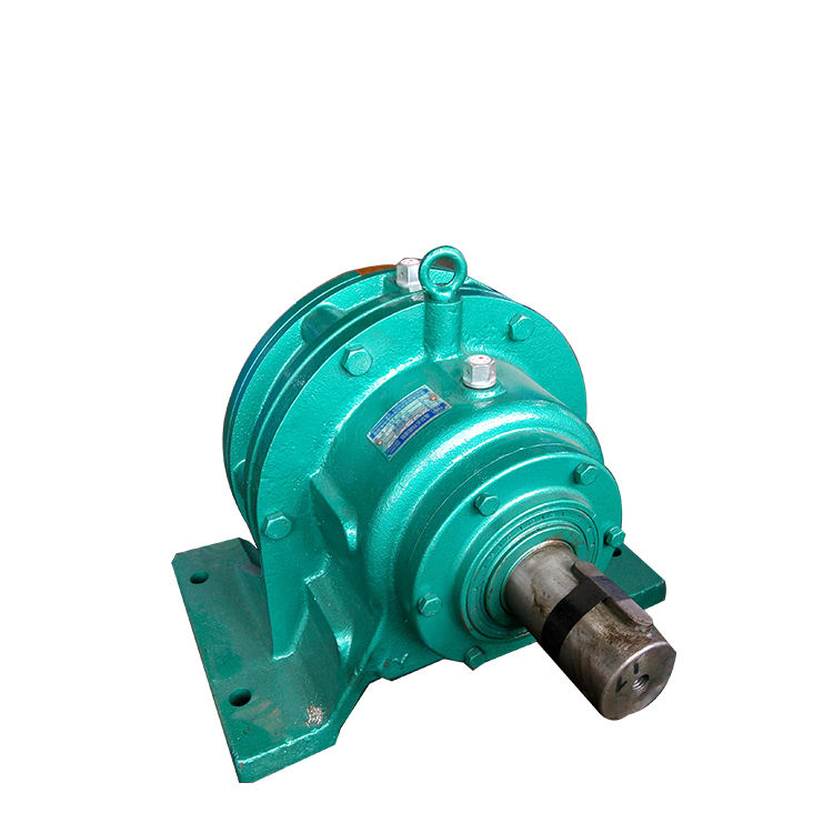 Horizontal mounted planetary cycloid gear motor reducer with brake