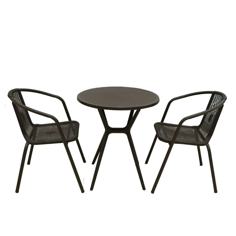 Outdoor furniture leisure table and chairs patio lounge table set rattan design garden furniture sets