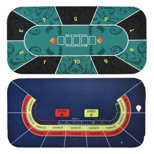 Casino Custom Poker Table Mat Game Table Top Texas Hold'em Round Rubber Poker Table Mat