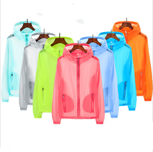 Sun protection clothing summer large size skin windbreaker factory direct couple outdoor fishing  Ultra-thin skin wind clothes