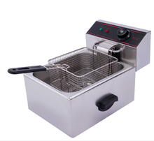 6L Factory direct sales Commercial Thickening Single tank  Electric Fryer French fries machines chicken deep fryer