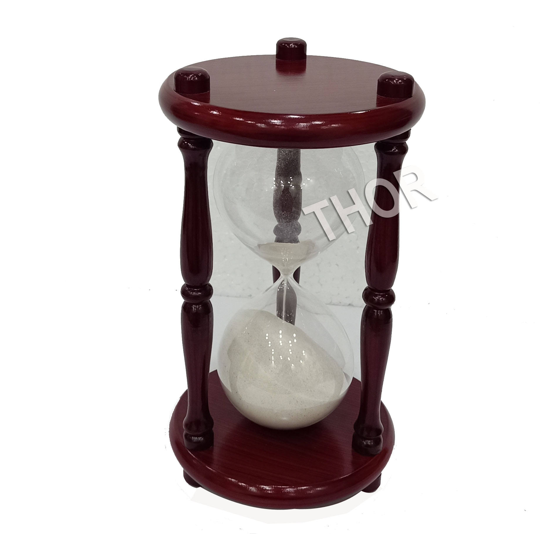 Hourglass Sand Timer Glass 30 Wood Time Clock For Kitchen Office Home Decor