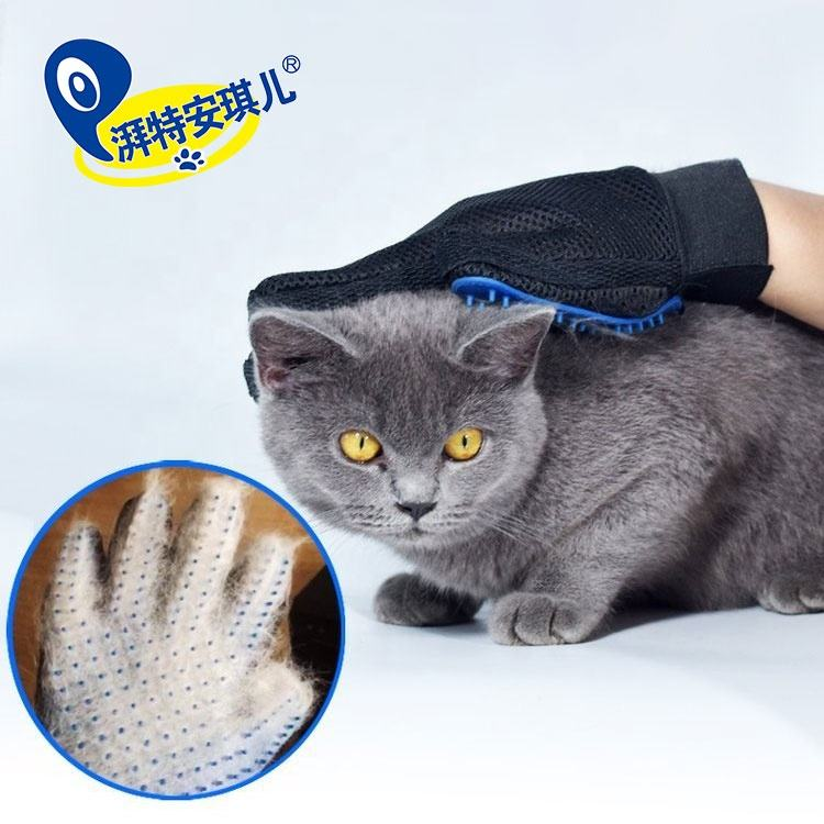 Pet Grooming Glove [ Glove ] Pet Cleaning Brush Rubber 5 Fingers Deshedding Pet Grooming Glove