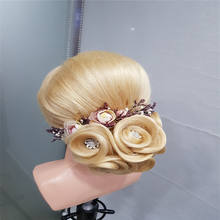 Professional Hairdresser Hair Styliest Education Mannequin Head 613# Blond Human Hair Mannequin Training Head