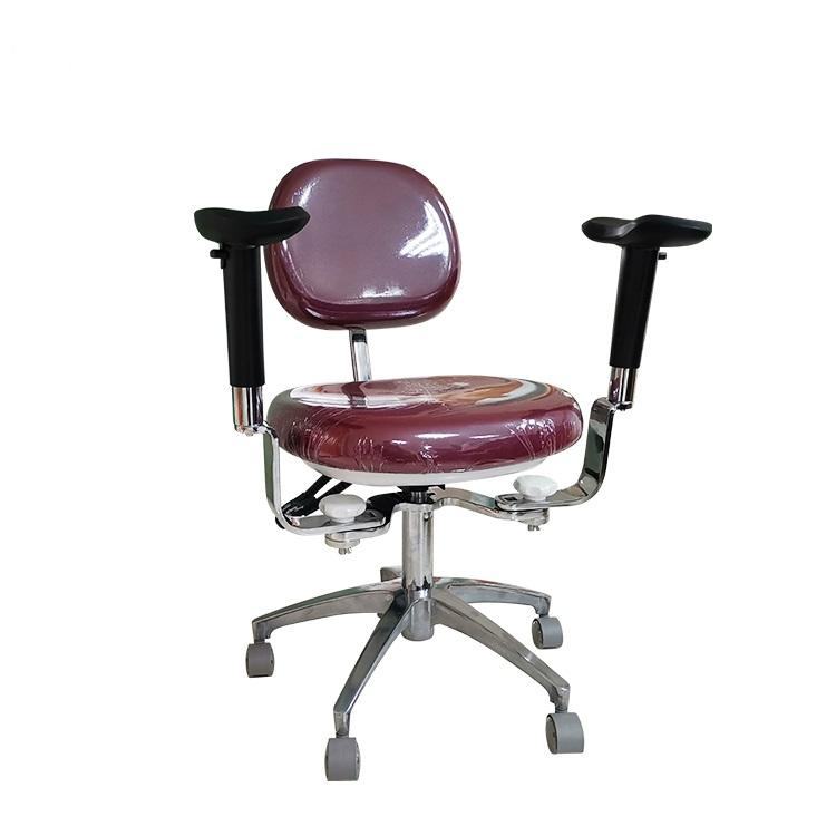 Foshan hospital ergonomic medical doctor stool chair with pu backrest armrest