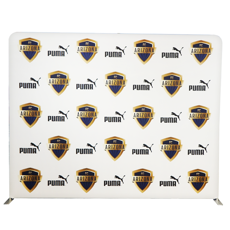 Tension Backdrop Custom Printing Pillow Case Straight Tension Fabric Tradeshow Stand Display Wall Banner Backdrop Portable