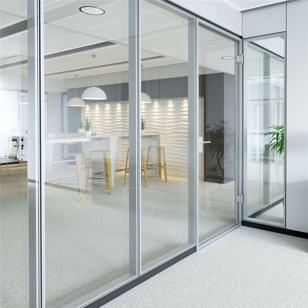 High quality good price Office Cubicles with Glass Panel sound proof aluminum office partition