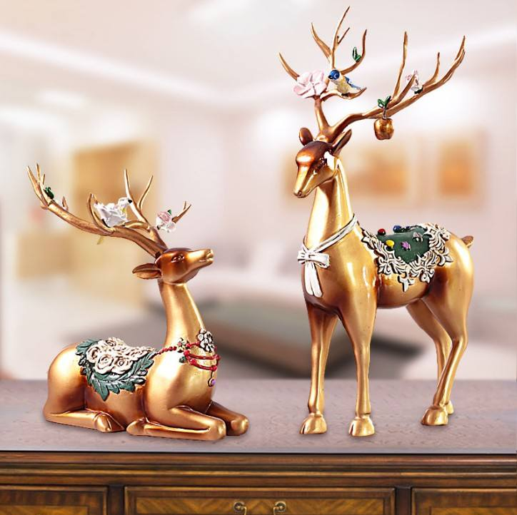 Wholesale Gold Deer New Nordic Style Animal Decoration Home Piece Modern Luxury, Craft Ornaments Home Decoration for Desk