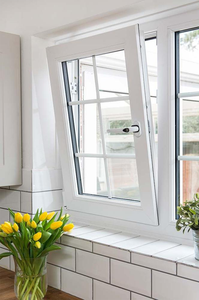 Windows And Doors UPVC Profile White frame Individual House Tilt and Turn Glass Windows