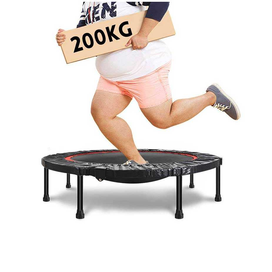 40 inch Portable Foldable Outdoor Indoor Safely Mini Trampoline Rebounder for Bounce Fit Fitness Workout Gym Exercise