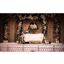 Wedding Front and Backstage Candle Walls Unique Wedding Reception Stage Candle Back-Walls Latest Wedding Stage Candle Walls