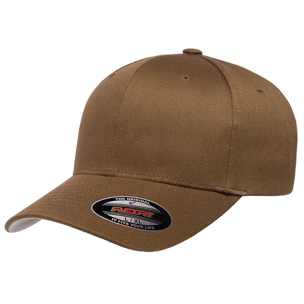 100%Cotton Plain flex fit cap
