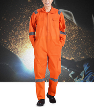 Fireproof coverall workwear one piece winter jacket boiler suit with flame retardant coating