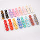 Bright colors cute hair clip acrylic acetate mini flower hair clips for girls