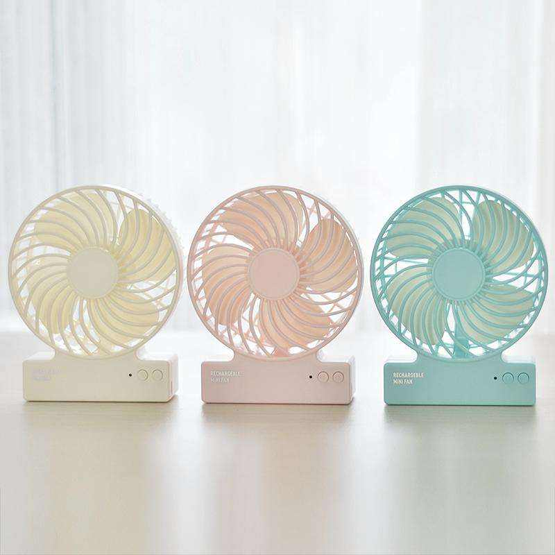 Amazon Newest USB Rechargeable Mini Hand Held Fan table white little table fan quiet electric fan made in China