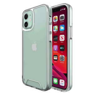 For iPhone 11 pro max hard pc acrylic space phone case soft tpu transparent clear cell phone cover plating buttons cases
