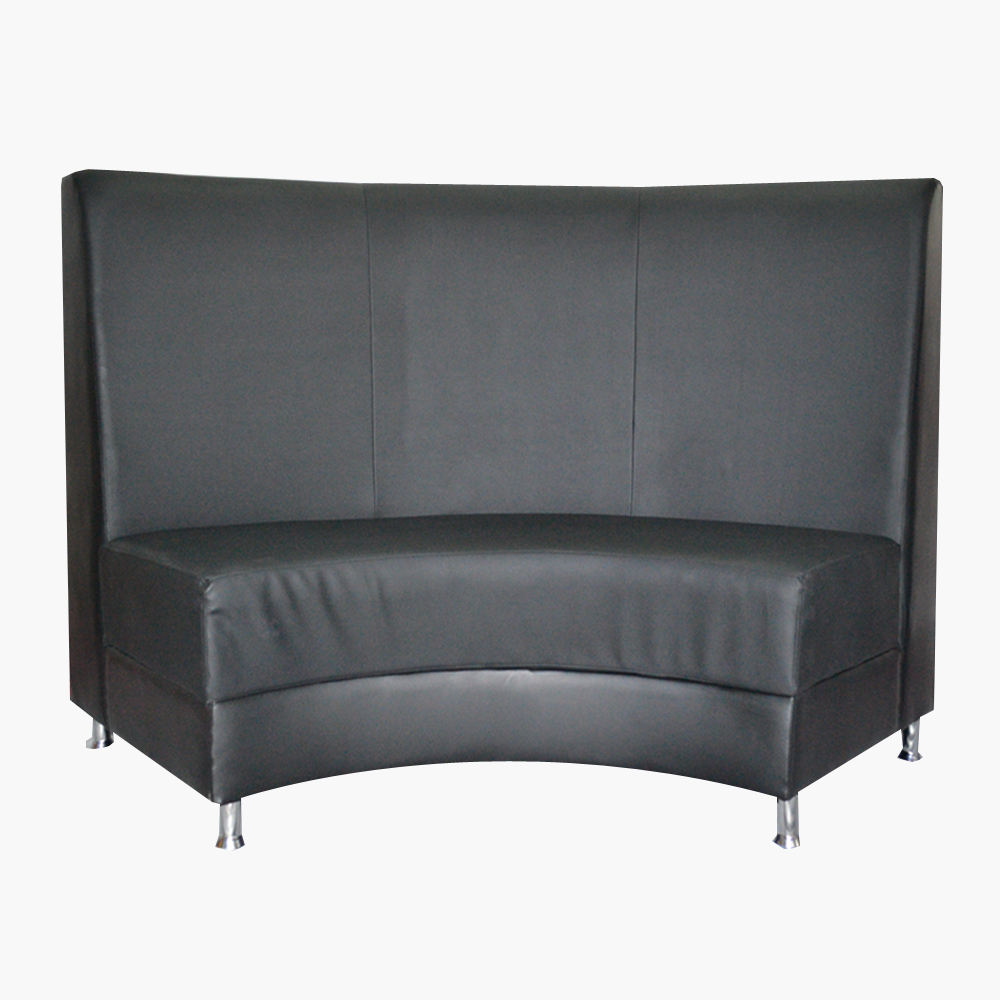 curved line modern tufted high back sofa