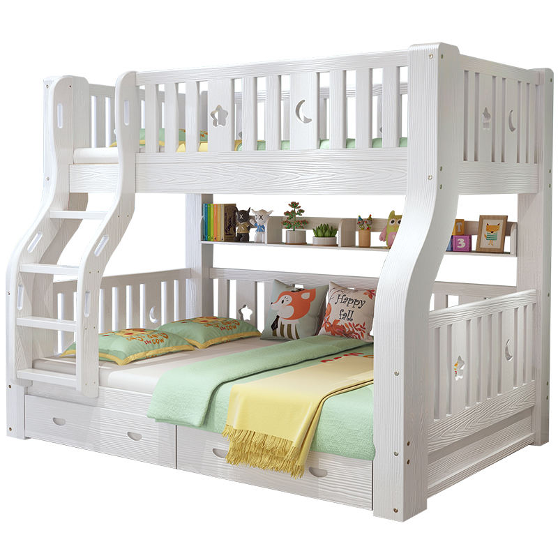 Widely Used Wood Furniture Sets Bedroom Customized Children Double Loft Bunk Bed
