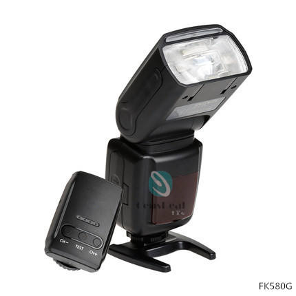 FK580G EOS cámara Digital luz de Flash Speedlite para Nikon Canon 2,4G disparador de Flash inalámbrico y Zapata caliente