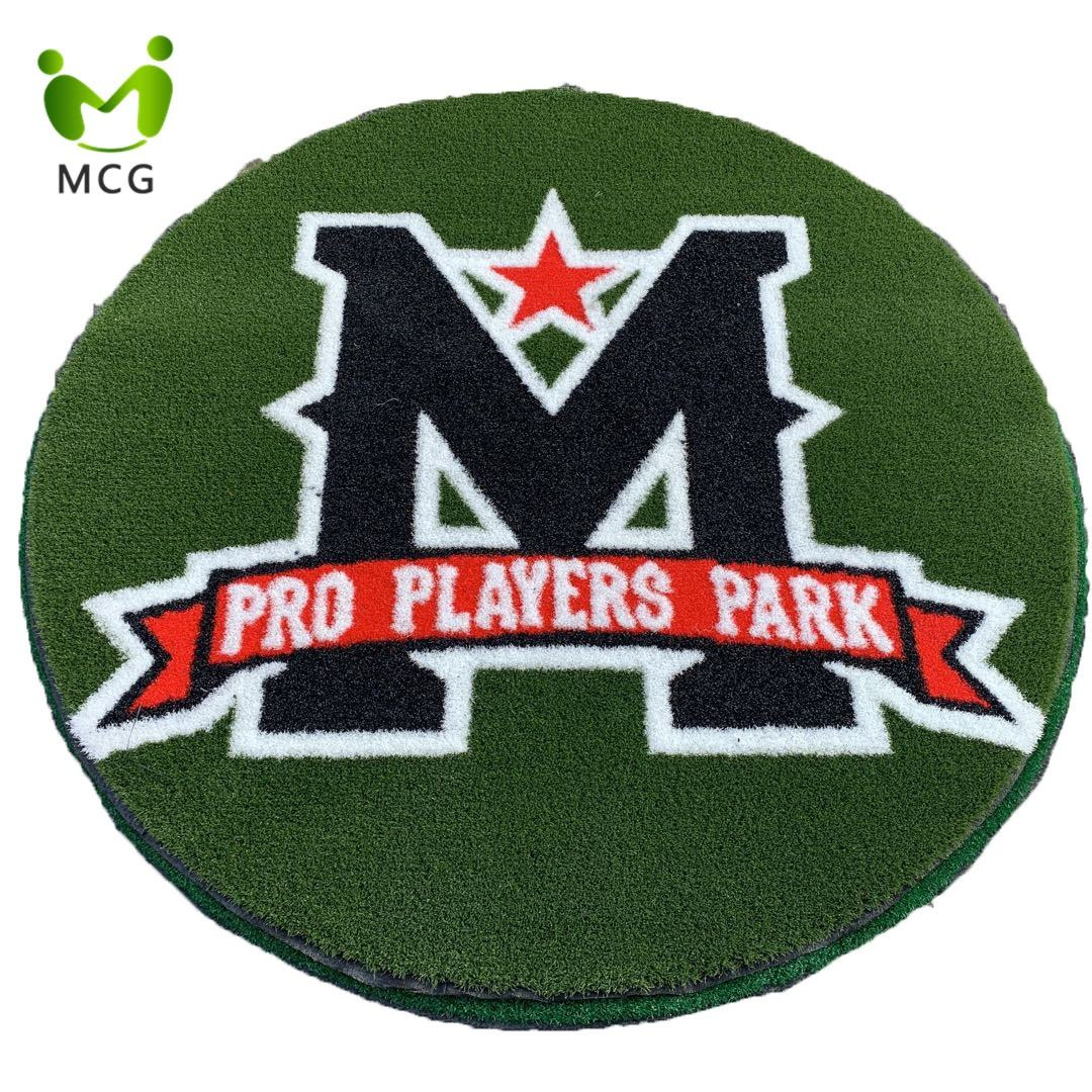 Customized Design Pattern Artificial Turf For Club Logo/Fitness Logo/Company Logo
