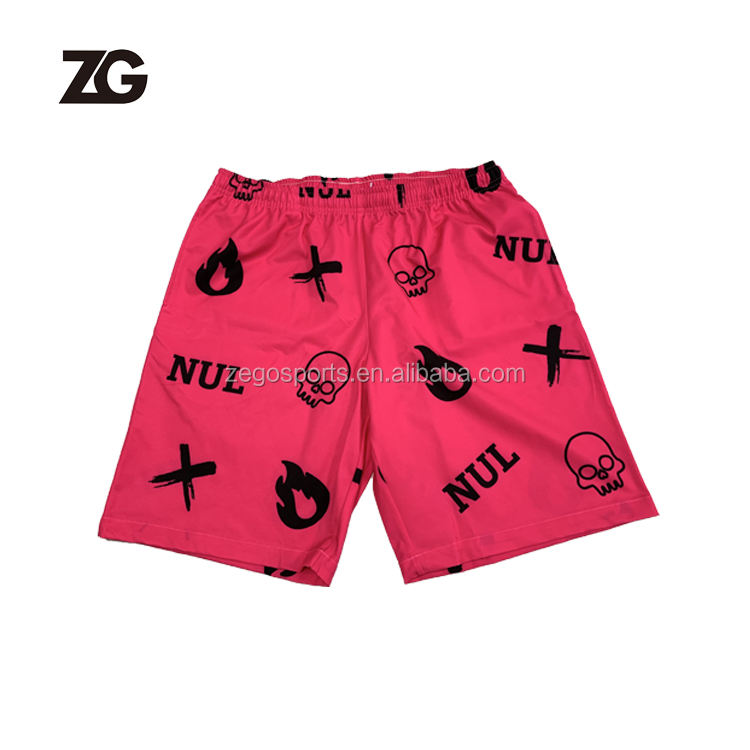 Custom Sublimation polyester Men's Beach Shorts Loose Shorts For Mens Summer Wear
