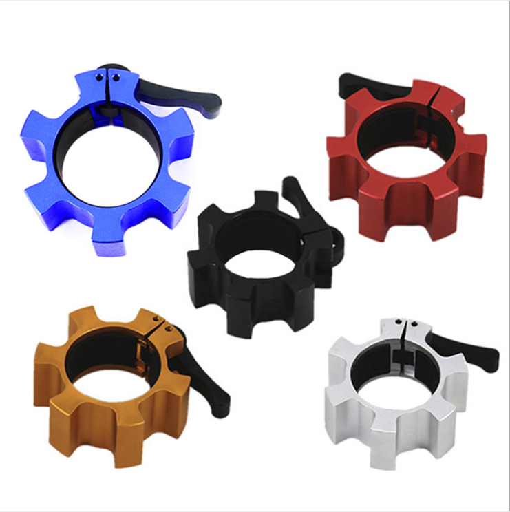 Leadman Fitness custom Weightlifting Lock Barbell Clips Aluminum Barbell Collar Clamps