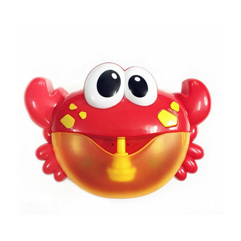 Children playing water crab bath bubble blowing machine bathing puzzle early education bath toys