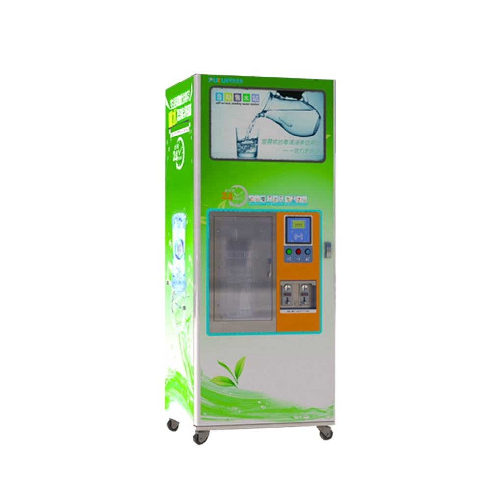 coin and bill operated water dispenser with filters purifying system /pure dirinking water vending /water vendo machine
