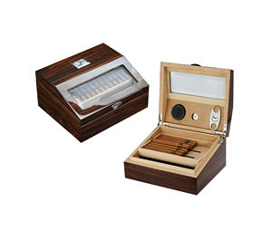 High Quality Cigar Wooden Box Cabinet Puro Humidor in Stock for Wholesale