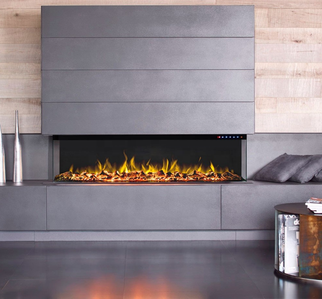 2019 new 3 side electric fireplace from China