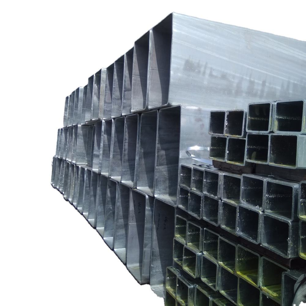 Hot dipped galvanized pre-galvanized square rectangular steel pipe and tube
