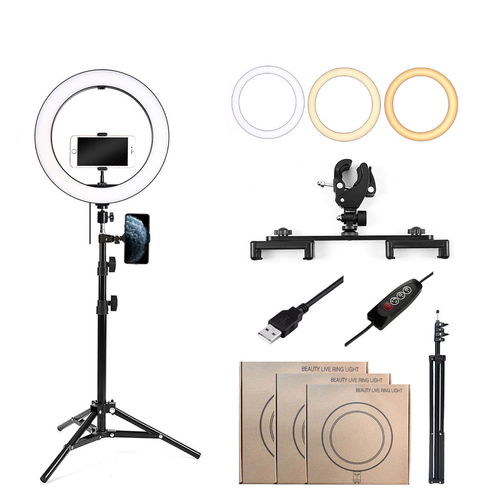 Tik Tok 10 Inch Makeup Fill Lamp Ringlight 26cm Photographic Beauty Phone Selfie Led Ring Light With Tripod Stand