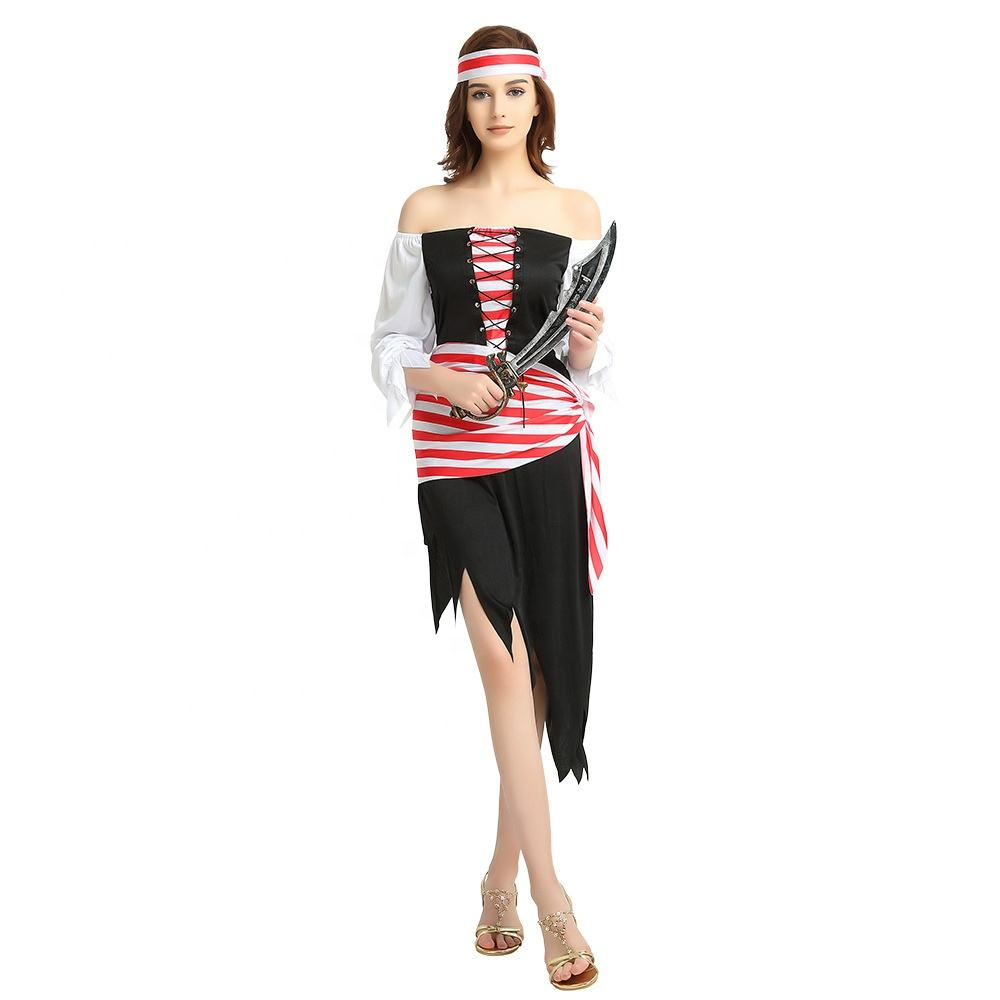 China Online Sale Carnival Fancy Dress Party Sexy Adult Female Pirate Costume