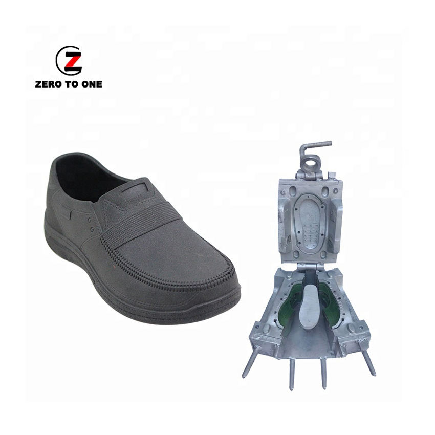 Jinjiang Top Quality Men's Casual Leather Shoes Making Die Pvc Close Shoe Mould PCU Air Blowing Plastci Injection Molds