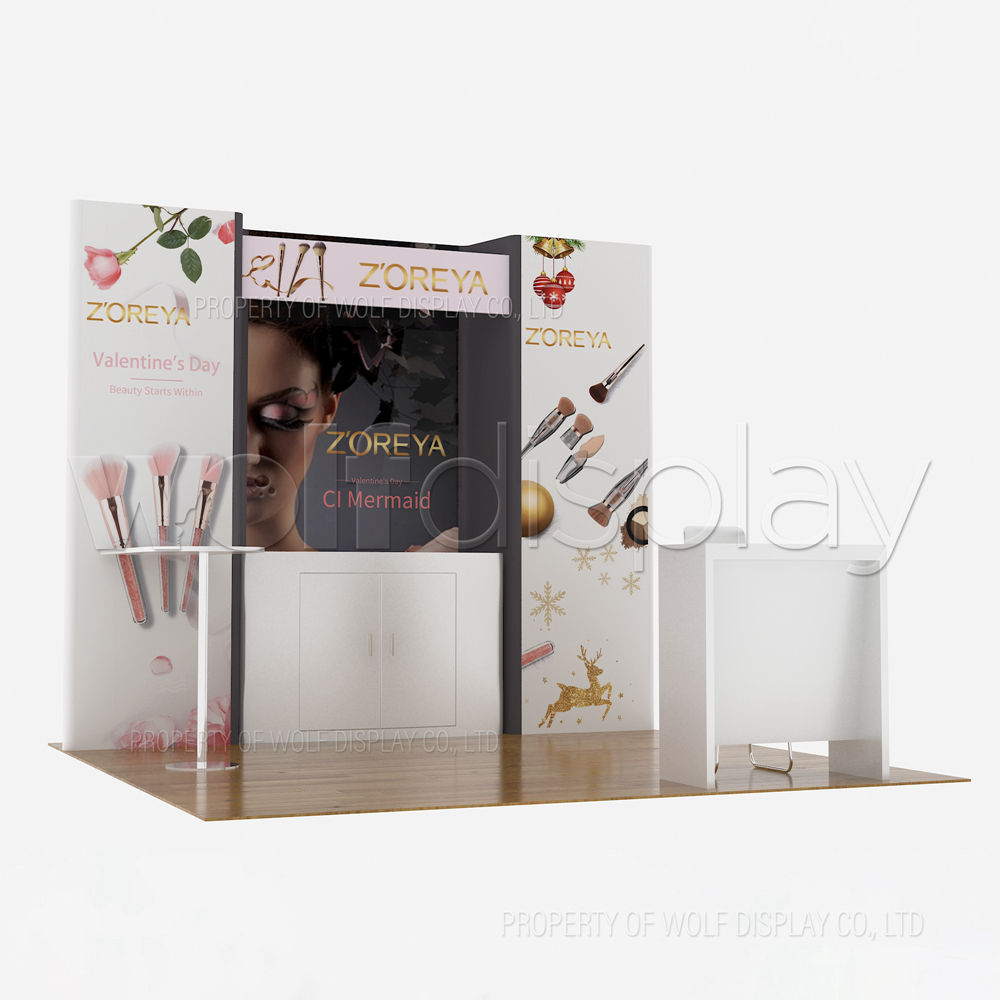 Cosmetics Display 3x3 Size Trade Fair Exhibition Booth