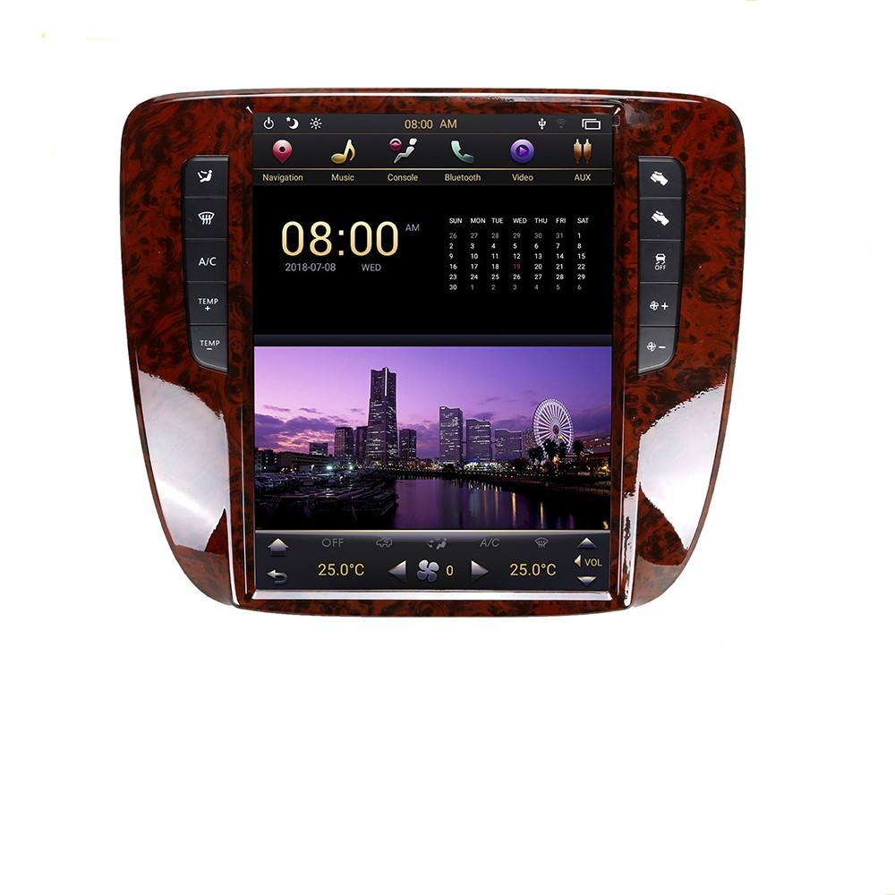 Car DVD player GPS Navigation Multimedia Stereo Electronics Android 9 Tesla Screen For GMC Yukon/ Chevrolet Tahoe 2007-<span class=keywords><strong>2012</strong></span>