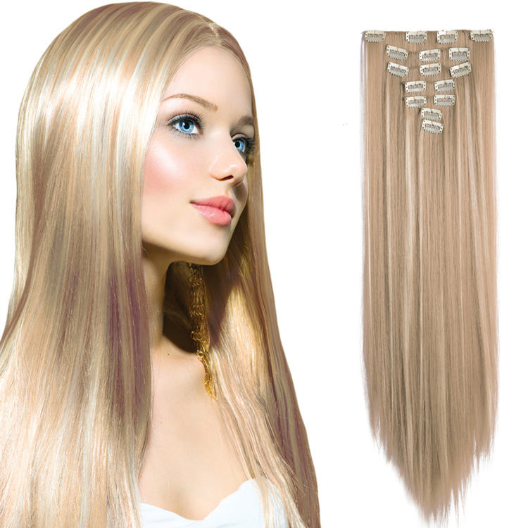 Wholesale 100% Real Remy Seamless Clip-In Hair Extensions, Cuticle Aligned Human Hair Clip In Hair Extension