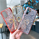 For Huawei P20 P30 P40 Case Diamond Pattern Clear TPU Phone Back Case With Ring Holder