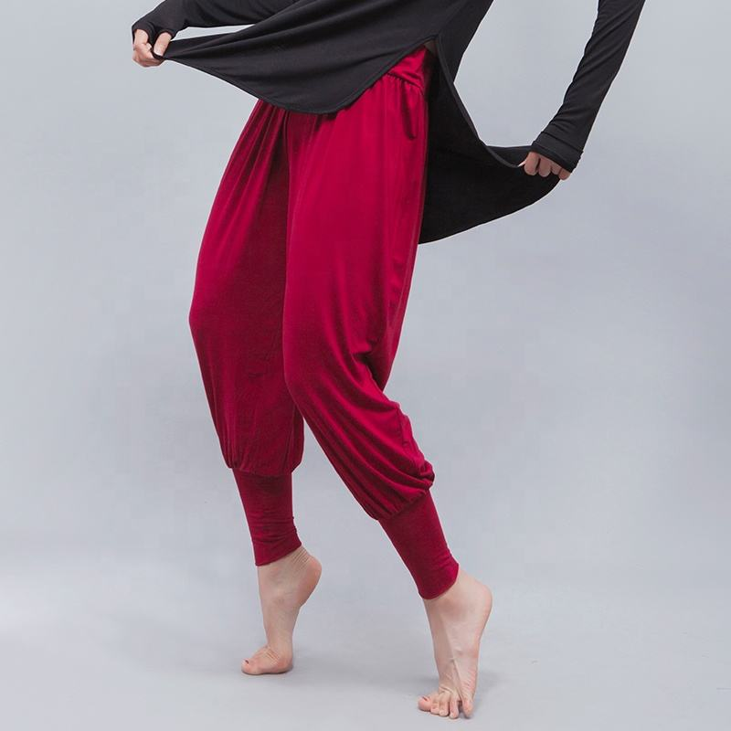 Adult women harem pants Ballet training Stretch dance pants in performance wear