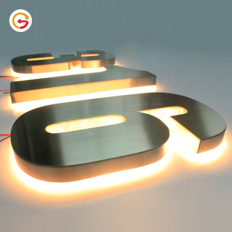 JAGUARSIGN OEM Custom 304 Stainless Steel Number Outside Metal Led Backlit Modern House Number Hausnummer Manufacturer