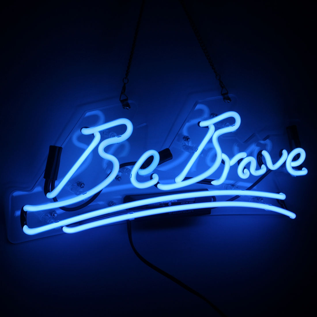 220v 110v Flexible Tube Flex Custom Sign for be brave Neon Light blue Lamp