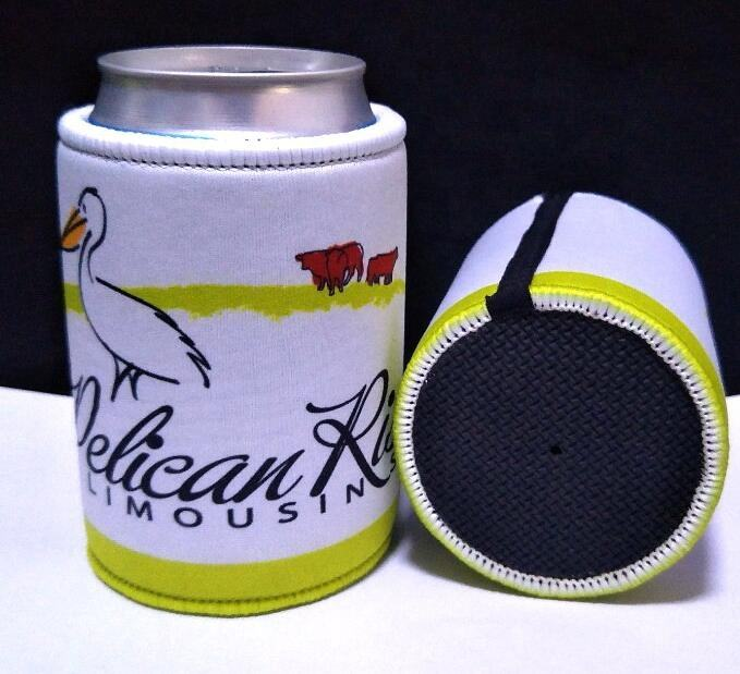 Outdoor Advertising Logo Branded Insulated Beer stubby Bottle Cooler have strap
