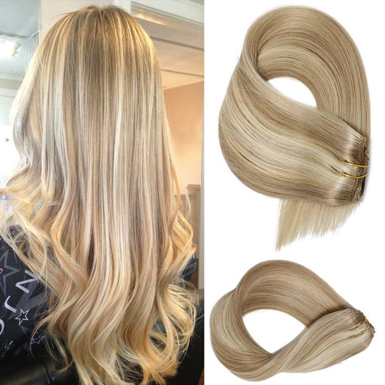 High Quality Ombre Braiding Hair Weave 100% Human Sew In Hair Extension Dropshipping