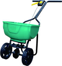 Manual Garden Fertilizer Stainless Steel Broadcast Walk Behind Lawn Planter Seed Spreader