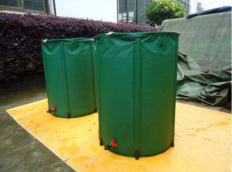 Custom 250L PVC Tarpaulin Outdoor Irrigation Water Saving Bucket Foldable Rain Barrel Tank For Collection