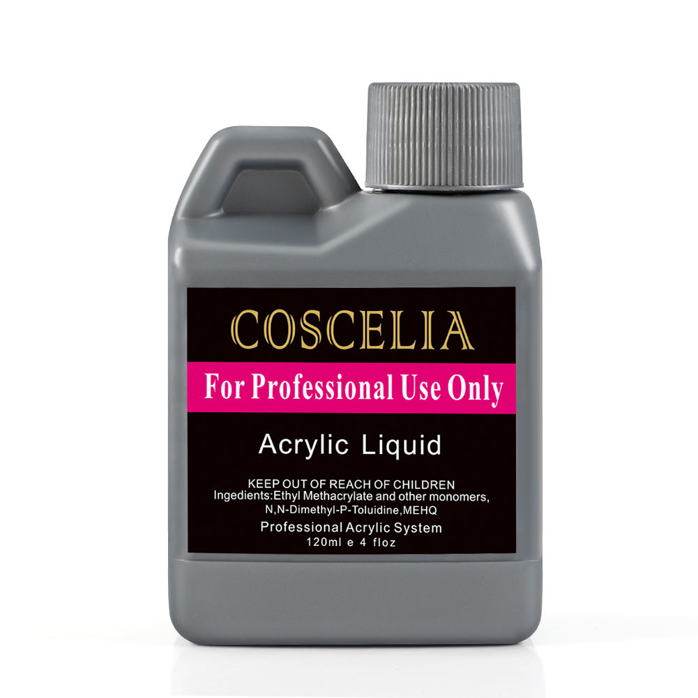 COSCELIA High Quality 120ml Nail Acrylic Liquid for Acrylic Nail