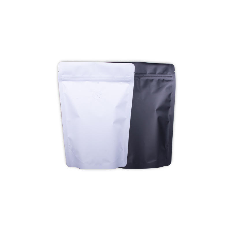 2020 new biodegradable kraft paper zipper bag for food packaging