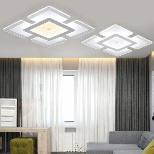 Elegant Acrylic Square Modern LED Ceiling Light For Bedroom Living Room Bedroom Home Decoration Lamp
