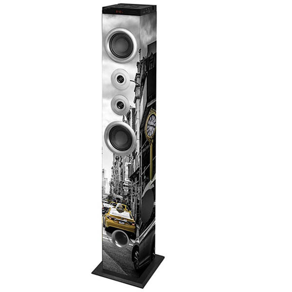 2.0 CH Bluetooth Audio Home Theatre System Profesional Disesuaikan Logo Subwoofer Nirkabel Tower Speaker